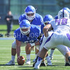 Hamilton College quarterback Kenny Gray (15), Hamilton College offensive lineman Micah Balogh (52)<br /> <br /> 9/23/17 1:17:49 PM Football:  Amherst College v Hamilton College at Steuben Field, Hamilton College, Clinton, NY<br /> <br /> Final:  Amherst 36  Hamilton 6<br /> <br /> Photo by Josh McKee