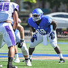 Hamilton College running back Marcus Gutierrez (19)<br /> <br /> 9/23/17 1:14:01 PM Football:  Amherst College v Hamilton College at Steuben Field, Hamilton College, Clinton, NY<br /> <br /> Final:  Amherst 36  Hamilton 6<br /> <br /> Photo by Josh McKee