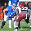 Hamilton College offensive lineman A.J. Rattee (73)<br /> <br /> 11/11/17 1:12:44 PM Football:  Bates College v Hamilton College at Steuben Field, Hamilton College, Clinton, NY<br /> <br /> Final:  Bates 14  Hamilton 35<br /> <br /> Photo by Josh McKee