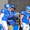 Hamilton College Head Coach Dave Murray, Hamilton College linebacker Tyler Hudson (4)<br /> <br /> 11/11/17 1:11:06 PM Football:  Bates College v Hamilton College at Steuben Field, Hamilton College, Clinton, NY<br /> <br /> Final:  Bates 14  Hamilton 35<br /> <br /> Photo by Josh McKee