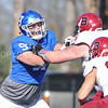 Hamilton College defensive lineman Bill Gordon (97)<br /> <br /> 11/11/17 1:07:44 PM Football:  Bates College v Hamilton College at Steuben Field, Hamilton College, Clinton, NY<br /> <br /> Final:  Bates 14  Hamilton 35<br /> <br /> Photo by Josh McKee