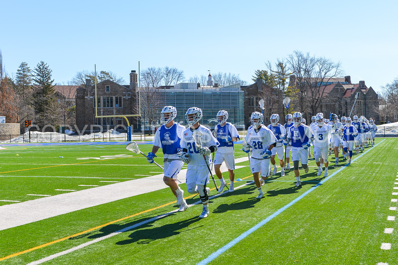 Team<br /> <br /> 3/31/18 10:23:10 AM Men's Lacrosse: Bates College v Hamilton College at Steuben Field, Hamilton College, Clinton, NY<br /> <br /> Photo by Josh McKee