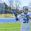 Hamilton College defender Conor Craven (39)<br /> <br /> 3/31/18 10:56:46 AM Men's Lacrosse: Bates College v Hamilton College at Steuben Field, Hamilton College, Clinton, NY<br /> <br /> Photo by Josh McKee
