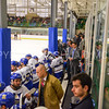 Bench, Hamilton College head coach Rob Haberbusch<br /> <br /> 2/24/18 4:30:21 PM Men's Hockey: NESCAC Championship Quarterfinal-- Wesleyan University v Hamilton College at Russell Sage Rink, Hamilton College, Clinton, NY<br /> <br /> Final:  Wesleyan 2   Hamilton 1<br /> <br /> Photo by Josh McKee