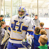 Hamilton College goaltender Evan Buitenhuis (29)<br /> <br /> 2/24/18 5:23:39 PM Men's Hockey: NESCAC Championship Quarterfinal-- Wesleyan University v Hamilton College at Russell Sage Rink, Hamilton College, Clinton, NY<br /> <br /> Final:  Wesleyan 2   Hamilton 1<br /> <br /> Photo by Josh McKee