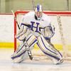 Hamilton College goaltender Anthony Tirabassi (34)<br /> <br /> 2/24/18 3:30:37 PM Men's Hockey: NESCAC Championship Quarterfinal-- Wesleyan University v Hamilton College at Russell Sage Rink, Hamilton College, Clinton, NY<br /> <br /> Final:  Wesleyan 2   Hamilton 1<br /> <br /> Photo by Josh McKee