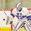 Hamilton College goaltender Anthony Tirabassi (34)<br /> <br /> 2/24/18 3:30:41 PM Men's Hockey: NESCAC Championship Quarterfinal-- Wesleyan University v Hamilton College at Russell Sage Rink, Hamilton College, Clinton, NY<br /> <br /> Final:  Wesleyan 2   Hamilton 1<br /> <br /> Photo by Josh McKee