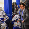 Hamilton College head coach Rob Haberbusch, Hamilton College Assistant Coach Bennett Hambrook, Bench<br /> <br /> 2/24/18 4:30:37 PM Men's Hockey: NESCAC Championship Quarterfinal-- Wesleyan University v Hamilton College at Russell Sage Rink, Hamilton College, Clinton, NY<br /> <br /> Final:  Wesleyan 2   Hamilton 1<br /> <br /> Photo by Josh McKee