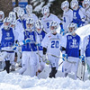 Team<br /> <br /> 3/4/18 12:19:32 PM Men's Lacrosse: Tufts University v Hamilton College at Withiam Field, Hamilton College, Clinton, NY<br /> <br /> Photo by Josh McKee