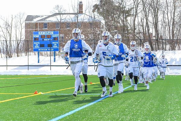 Team<br /> <br /> 3/4/18 12:21:38 PM Men's Lacrosse: Tufts University v Hamilton College at Withiam Field, Hamilton College, Clinton, NY<br /> <br /> Photo by Josh McKee