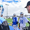 Hamilton College midfielder Mike Connolly (29), Hamilton College midfielder Eric Zurmuehle (20)<br /> <br /> 3/4/18 12:39:24 PM Men's Lacrosse: Tufts University v Hamilton College at Withiam Field, Hamilton College, Clinton, NY<br /> <br /> Photo by Josh McKee