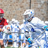 Hamilton College attacker Brendan Burke (4)<br /> <br /> 4/21/18 1:35:30 PM Men's Lacrosse: #5 Wesleyan University v Hamilton College at Steuben Field, Hamilton College, Clinton, NY<br /> <br /> Final:  #5 Wesleyan 8   Hamilton 7 <br /> <br /> Photo by Josh McKee