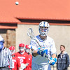 Hamilton College midfielder Henry Hill (11)<br /> <br /> 4/21/18 2:10:26 PM Men's Lacrosse: #5 Wesleyan University v Hamilton College at Steuben Field, Hamilton College, Clinton, NY<br /> <br /> Final:  #5 Wesleyan 8   Hamilton 7 <br /> <br /> Photo by Josh McKee