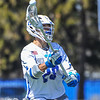 Hamilton College midfielder Matt Saltzman (28)<br /> <br /> 4/21/18 1:36:25 PM Men's Lacrosse: #5 Wesleyan University v Hamilton College at Steuben Field, Hamilton College, Clinton, NY<br /> <br /> Final:  #5 Wesleyan 8   Hamilton 7 <br /> <br /> Photo by Josh McKee