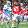 Hamilton College attacker Henry Hunt (2), GOAL<br /> <br /> 4/21/18 1:39:16 PM Men's Lacrosse: #5 Wesleyan University v Hamilton College at Steuben Field, Hamilton College, Clinton, NY<br /> <br /> Final:  #5 Wesleyan 8   Hamilton 7 <br /> <br /> Photo by Josh McKee