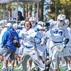 Team, Celebration<br /> <br /> 4/21/18 2:31:10 PM Men's Lacrosse: #5 Wesleyan University v Hamilton College at Steuben Field, Hamilton College, Clinton, NY<br /> <br /> Final:  #5 Wesleyan 8   Hamilton 7 <br /> <br /> Photo by Josh McKee