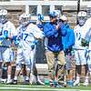 Hamilton College head coach Scott Barnard<br /> <br /> 4/21/18 1:38:19 PM Men's Lacrosse: #5 Wesleyan University v Hamilton College at Steuben Field, Hamilton College, Clinton, NY<br /> <br /> Final:  #5 Wesleyan 8   Hamilton 7 <br /> <br /> Photo by Josh McKee