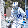 Hamilton College attacker Clay McCollum (18)<br /> <br /> 4/21/18 1:33:20 PM Men's Lacrosse: #5 Wesleyan University v Hamilton College at Steuben Field, Hamilton College, Clinton, NY<br /> <br /> Final:  #5 Wesleyan 8   Hamilton 7 <br /> <br /> Photo by Josh McKee