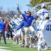 Team, Celebration<br /> <br /> 4/21/18 2:27:36 PM Men's Lacrosse: #5 Wesleyan University v Hamilton College at Steuben Field, Hamilton College, Clinton, NY<br /> <br /> Final:  #5 Wesleyan 8   Hamilton 7 <br /> <br /> Photo by Josh McKee