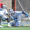 Hamilton College goalkeeper Kyle Gately (33)<br /> <br /> 4/21/18 1:25:04 PM Men's Lacrosse: #5 Wesleyan University v Hamilton College at Steuben Field, Hamilton College, Clinton, NY<br /> <br /> Final:  #5 Wesleyan 8   Hamilton 7 <br /> <br /> Photo by Josh McKee