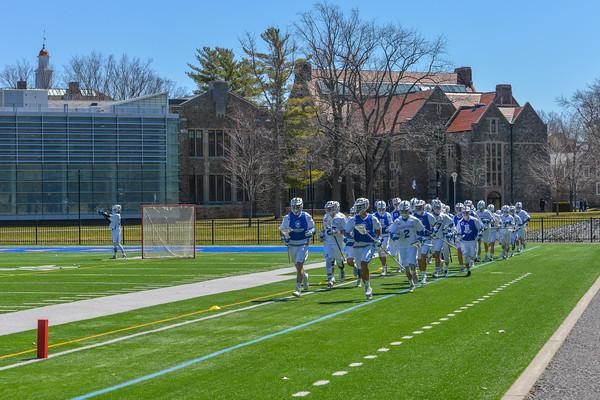Team<br /> <br /> 4/21/18 12:23:32 PM Men's Lacrosse: #5 Wesleyan University v Hamilton College at Steuben Field, Hamilton College, Clinton, NY<br /> <br /> Final:  #5 Wesleyan 8   Hamilton 7 <br /> <br /> Photo by Josh McKee