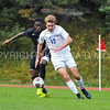 Hamilton College forward Aidan Wood (12)<br /> <br /> 10/7/17 1:57:29 PM Men's Soccer: Amherst College v Hamilton College, at Love Field, Hamilton College, Clinton, NY<br /> <br /> Final:  Amherst 0  Hamilton 0  2OT<br /> <br /> Photo by Josh McKee