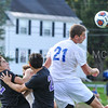 Hamilton College defender Quinn O'Malley (21)<br /> <br /> 10/7/17 3:52:59 PM Men's Soccer: Amherst College v Hamilton College, at Love Field, Hamilton College, Clinton, NY<br /> <br /> Final:  Amherst 0  Hamilton 0  2OT<br /> <br /> Photo by Josh McKee