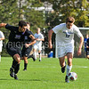 Hamilton College forward Aidan Wood (12)<br /> <br /> 10/7/17 3:12:57 PM Men's Soccer: Amherst College v Hamilton College, at Love Field, Hamilton College, Clinton, NY<br /> <br /> Final:  Amherst 0  Hamilton 0  2OT<br /> <br /> Photo by Josh McKee