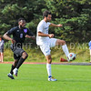 Hamilton College defender Eli Lichtman (11)<br /> <br /> 10/7/17 3:59:54 PM Men's Soccer: Amherst College v Hamilton College, at Love Field, Hamilton College, Clinton, NY<br /> <br /> Final:  Amherst 0  Hamilton 0  2OT<br /> <br /> Photo by Josh McKee