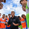 Hamilton College Head Coach Perry Nizzi<br /> <br /> 10/7/17 1:51:14 PM Men's Soccer: Amherst College v Hamilton College, at Love Field, Hamilton College, Clinton, NY<br /> <br /> Final:  Amherst 0  Hamilton 0  2OT<br /> <br /> Photo by Josh McKee