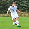 Hamilton College defender Quinn O'Malley (21)<br /> <br /> 10/7/17 2:05:04 PM Men's Soccer: Amherst College v Hamilton College, at Love Field, Hamilton College, Clinton, NY<br /> <br /> Final:  Amherst 0  Hamilton 0  2OT<br /> <br /> Photo by Josh McKee