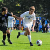 Hamilton College forward Aidan Wood (12)<br /> <br /> 10/7/17 3:09:12 PM Men's Soccer: Amherst College v Hamilton College, at Love Field, Hamilton College, Clinton, NY<br /> <br /> Final:  Amherst 0  Hamilton 0  2OT<br /> <br /> Photo by Josh McKee