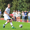 Hamilton College defender Quinn O'Malley (21)<br /> <br /> 10/7/17 3:59:59 PM Men's Soccer: Amherst College v Hamilton College, at Love Field, Hamilton College, Clinton, NY<br /> <br /> Final:  Amherst 0  Hamilton 0  2OT<br /> <br /> Photo by Josh McKee