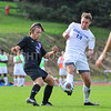 Hamilton College M Eli Morris (13)<br /> <br /> 10/7/17 3:55:25 PM Men's Soccer: Amherst College v Hamilton College, at Love Field, Hamilton College, Clinton, NY<br /> <br /> Final:  Amherst 0  Hamilton 0  2OT<br /> <br /> Photo by Josh McKee