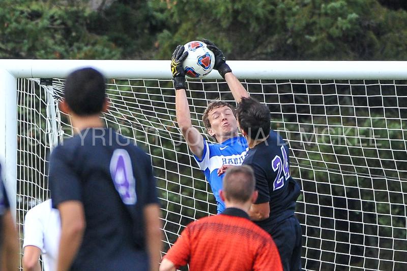 Hamilton College goalkeeper Linds Cadwell (0)<br /> <br /> 10/7/17 2:32:07 PM Men's Soccer: Amherst College v Hamilton College, at Love Field, Hamilton College, Clinton, NY<br /> <br /> Final:  Amherst 0  Hamilton 0  2OT<br /> <br /> Photo by Josh McKee