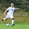Hamilton College defender Luke Eckels (16)<br /> <br /> 10/7/17 2:30:13 PM Men's Soccer: Amherst College v Hamilton College, at Love Field, Hamilton College, Clinton, NY<br /> <br /> Final:  Amherst 0  Hamilton 0  2OT<br /> <br /> Photo by Josh McKee