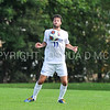 Hamilton College defender Eli Lichtman (11)<br /> <br /> 10/7/17 3:20:45 PM Men's Soccer: Amherst College v Hamilton College, at Love Field, Hamilton College, Clinton, NY<br /> <br /> Final:  Amherst 0  Hamilton 0  2OT<br /> <br /> Photo by Josh McKee