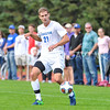 Hamilton College defender Quinn O'Malley (21)<br /> <br /> 10/7/17 2:30:22 PM Men's Soccer: Amherst College v Hamilton College, at Love Field, Hamilton College, Clinton, NY<br /> <br /> Final:  Amherst 0  Hamilton 0  2OT<br /> <br /> Photo by Josh McKee