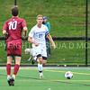 Hamilton College defender Quinn O'Malley (21)<br /> <br /> 9/9/17 1:41:26 PM Men's Soccer: Bates College v Hamilton College, at Withiam Field, Hamilton College, Clinton, NY<br /> <br /> Final:  Bates 2  Hamilton 1<br /> <br /> Photo by Josh McKee