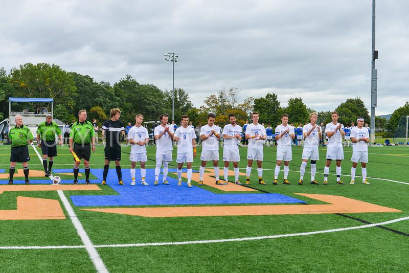Team<br /> <br /> 9/9/17 1:28:44 PM Men's Soccer: Bates College v Hamilton College, at Withiam Field, Hamilton College, Clinton, NY<br /> <br /> Final:  Bates 2  Hamilton 1<br /> <br /> Photo by Josh McKee