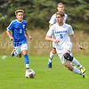 Hamilton College M Bobby Chapman (5)<br /> <br /> 10/21/17 1:44:22 PM Men's Soccer: Colby College v Hamilton College, at Love Field, Hamilton College, Clinton, NY<br /> <br /> Final:  Colby 0  Hamilton 2<br /> <br /> Photo by Josh McKee