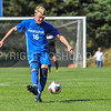 Hamilton College defender Luke Eckels (16)<br /> <br /> 10/1/17 1:38:31 PM Men's Soccer: Tufts University v Hamilton College, at Love Field, Hamilton College, Clinton, NY<br /> <br /> Final:  Tufts 1  Hamilton 0<br /> <br /> Photo by Josh McKee