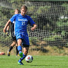 Hamilton College defender Quinn O'Malley (21)<br /> <br /> 10/1/17 1:42:48 PM Men's Soccer: Tufts University v Hamilton College, at Love Field, Hamilton College, Clinton, NY<br /> <br /> Final:  Tufts 1  Hamilton 0<br /> <br /> Photo by Josh McKee