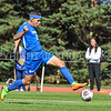 Hamilton College forward Jeffrey Plump (24)<br /> <br /> 10/1/17 1:34:58 PM Men's Soccer: Tufts University v Hamilton College, at Love Field, Hamilton College, Clinton, NY<br /> <br /> Final:  Tufts 1  Hamilton 0<br /> <br /> Photo by Josh McKee