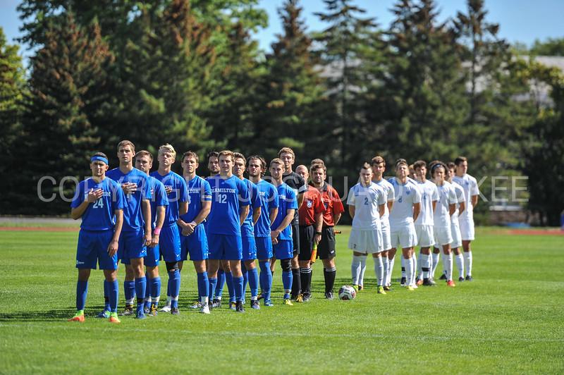 Team<br /> <br /> 10/1/17 1:29:02 PM Men's Soccer: Tufts University v Hamilton College, at Love Field, Hamilton College, Clinton, NY<br /> <br /> Final:  Tufts 1  Hamilton 0<br /> <br /> Photo by Josh McKee