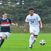 Hamilton College defender Jose Torres (23)<br /> <br /> 10/11/17 4:17:38 PM Men's Soccer: Utica College v Hamilton College, at Love Field, Hamilton College, Clinton, NY<br /> <br /> Final:  Utica 0  Hamilton 1  2OT<br /> <br /> Photo by Josh McKee
