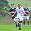 Hamilton College defender Luke Eckels (16)<br /> <br /> 10/11/17 4:19:08 PM Men's Soccer: Utica College v Hamilton College, at Love Field, Hamilton College, Clinton, NY<br /> <br /> Final:  Utica 0  Hamilton 1  2OT<br /> <br /> Photo by Josh McKee