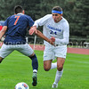 Hamilton College forward Jeffrey Plump (24)<br /> <br /> 10/11/17 4:15:37 PM Men's Soccer: Utica College v Hamilton College, at Love Field, Hamilton College, Clinton, NY<br /> <br /> Final:  Utica 0  Hamilton 1  2OT<br /> <br /> Photo by Josh McKee