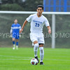 Hamilton College defender Jose Torres (23)<br /> <br /> 10/11/17 4:17:32 PM Men's Soccer: Utica College v Hamilton College, at Love Field, Hamilton College, Clinton, NY<br /> <br /> Final:  Utica 0  Hamilton 1  2OT<br /> <br /> Photo by Josh McKee