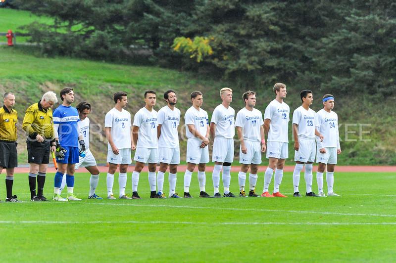 Team<br /> <br /> 10/11/17 4:02:40 PM Men's Soccer: Utica College v Hamilton College, at Love Field, Hamilton College, Clinton, NY<br /> <br /> Final:  Utica 0  Hamilton 1  2OT<br /> <br /> Photo by Josh McKee